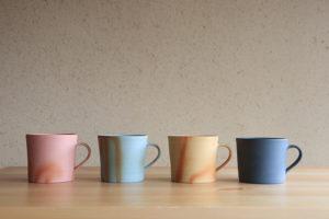 出製陶の備前焼マグカップ