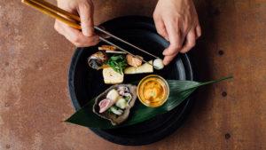 倉敷美観地区の日本料理店『Bricole』調理写真