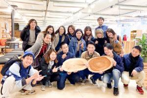 株式会社有鄰、徳島県神山町への研修旅行での集合写真