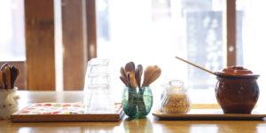ゲストハウス『有鄰庵』の朝の光景