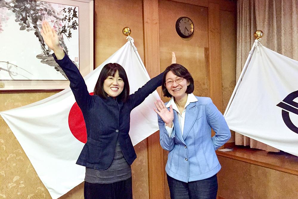 株式会社行雲、地域おこし協力隊の倉敷市長伊東香織さんへの表敬訪問